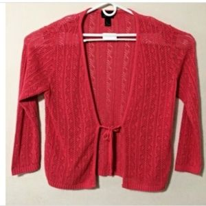Lane Bryant Womens Sweater Orange Coral 18-20 Tie